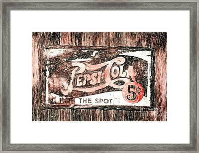 Vintage Pepsi Cola Sign Framed Print