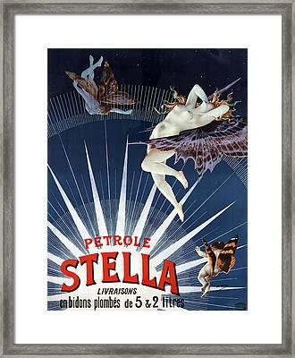 Vintage Petrole Stella Poster Framed Print by Henri Boulanger