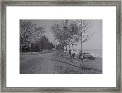 Vintage Photograph 1902 Front Street New Bern Nc Framed Print