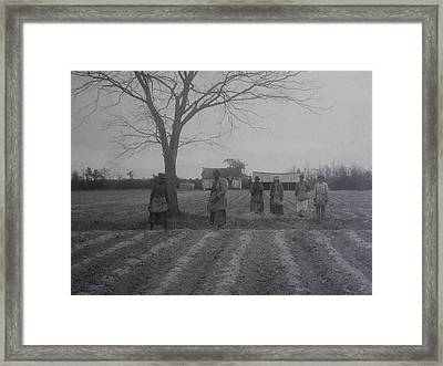 Vintage Photograph 1902 New Bern North Carolina Sharecroppers Framed Print