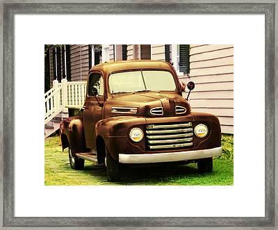 Vintage Pick Up Truck Framed Print