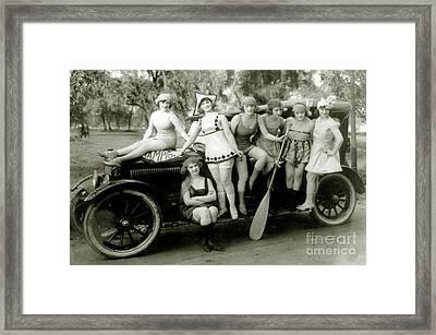Vintage Pin Up Girls Framed Print