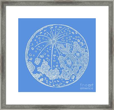 Vintage Planet Tee Blue Framed Print