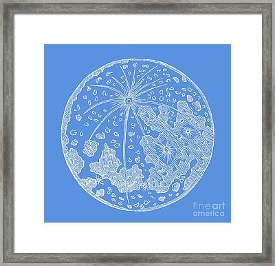 Vintage Planet Tee Blue Framed Print