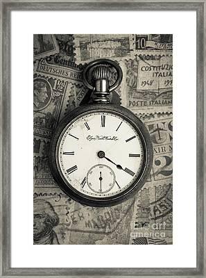 Vintage Pocket Watch Framed Print by Edward Fielding