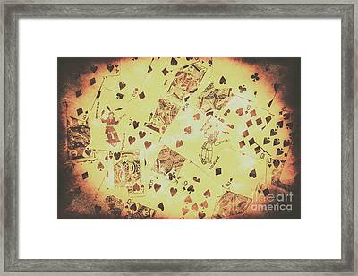 Vintage Poker Card Background Framed Print by Jorgo Photography - Wall Art Gallery