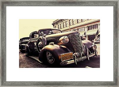 Vintage Police Car Framed Print by Britten Adams