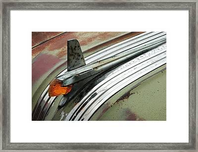 Vintage Pontiac Hood Ornament Framed Print