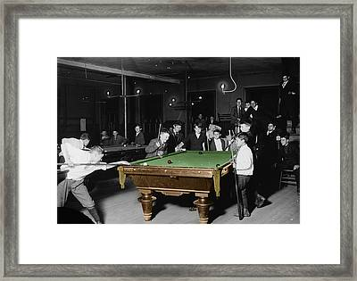 Vintage Pool Hall Framed Print