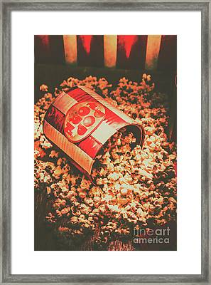 Vintage Popcorn Tin. Faded Films Still Life Framed Print