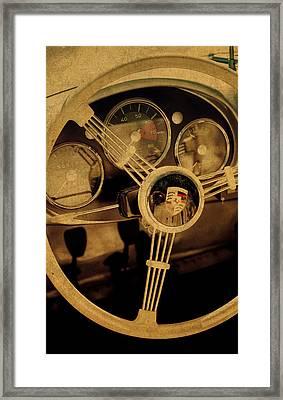 Vintage Porsche Steering Wheel Framed Print