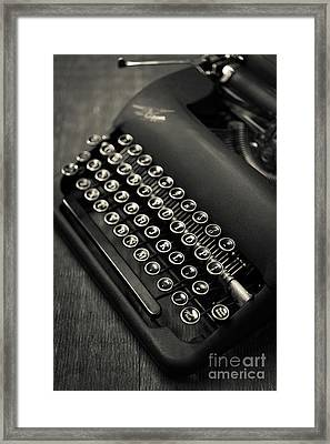 Vintage Portable Typewriter Framed Print by Edward Fielding