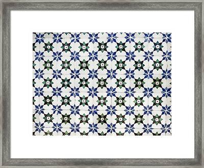 Vintage Portuguese Tiles Framed Print