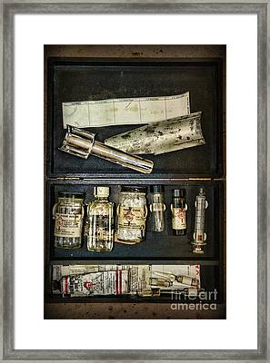 Vintage Post Mortem Fingerprint Kit Framed Print by Paul Ward