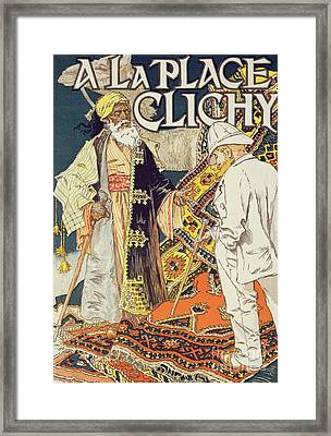 Vintage Poster Advertising A La Place Clichy, A Shop Specializing In Oriental Goods, 1891 Framed Print