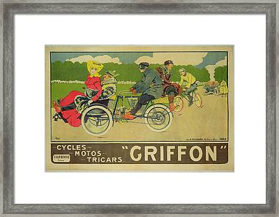 Vintage Poster Bicycle Advertisement Framed Print