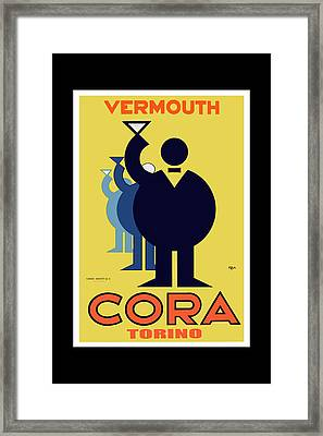 vintage poster Cora Vermouth Framed Print