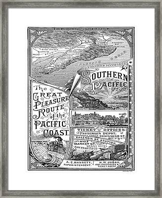 Vintage Poster - Pacific Coast Framed Print by Vintage Images