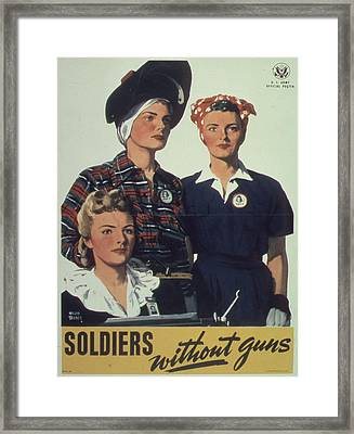Vintage Poster - Soldiers Without Guns Framed Print by Vintage Images