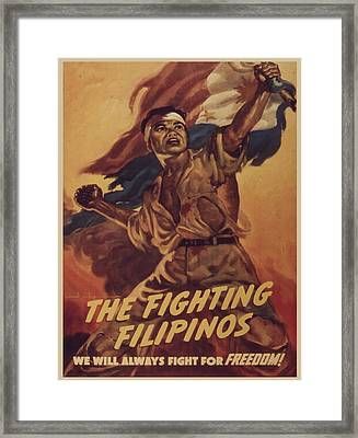 Vintage Poster - The Fighting Filipinos Framed Print by Vintage Images