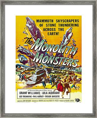 Vintage Poster - The Monolith Monsters Framed Print by Vintage Images