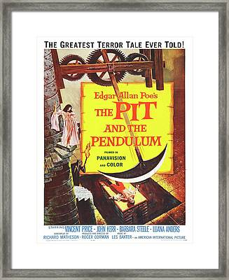Vintage Poster - The Pit And The Pendulum Framed Print by Vintage Images