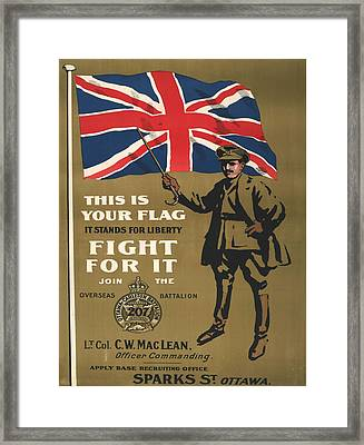 Vintage Poster - This Is Your Flag Framed Print by Vintage Images