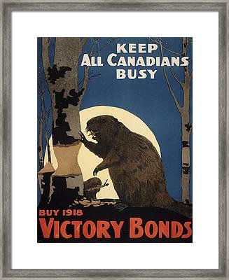 Vintage Poster - Victory Bonds Framed Print by Vintage Images
