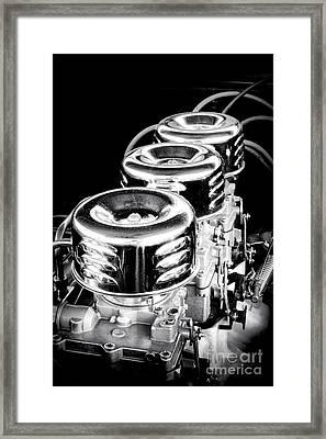 Vintage Power Framed Print by Olivier Le Queinec
