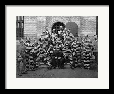 Prison Stripes Framed Prints