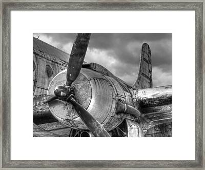 Vintage Prop - Black And White Framed Print by Gill Billington