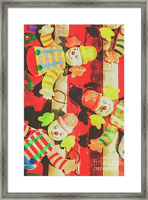 Framed Print featuring the photograph Vintage Pull String Puppets by Jorgo Photography - Wall Art Gallery