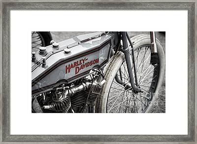Vintage Racing Harley Framed Print by Tim Gainey