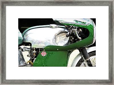 Vintage Racing Velocette Framed Print