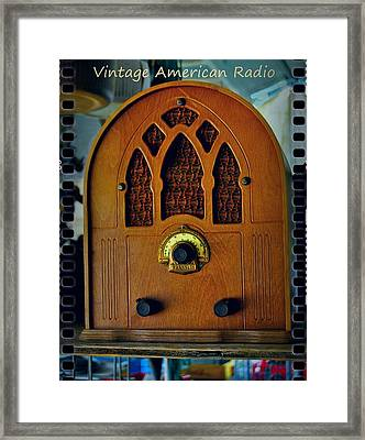 Vintage Cathedral Radio Framed Print by ARTography by Pamela Smale Williams