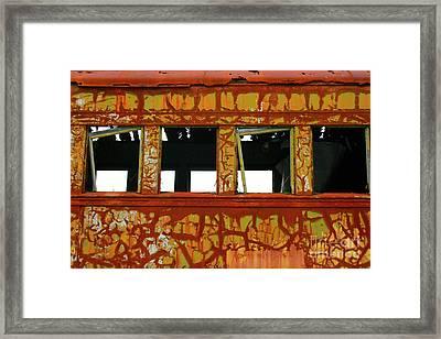 Vintage Railcar Framed Print