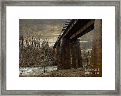 Vintage Railroad Trestle Framed Print by Melissa Messick