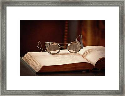 Vintage Reading Glasses  Framed Print by Maria Angelica Maira