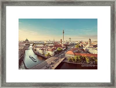 Vintage Berlin Framed Print by JR Photography