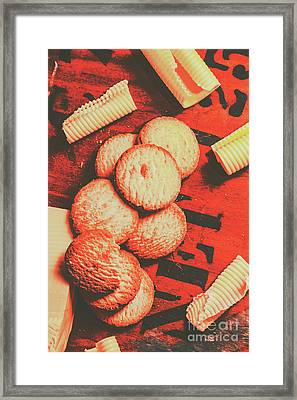 Vintage Rich Butter Shortcake Cookies Framed Print