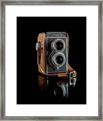 Vintage Ricohflex Camera Framed Print