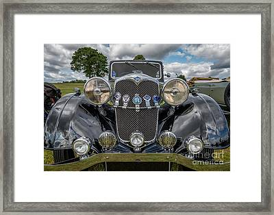 Vintage Riley Framed Print by Adrian Evans