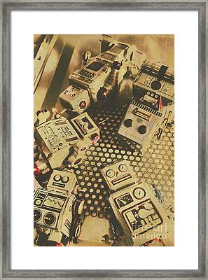 Vintage Robot Charging Zone Framed Print by Jorgo Photography - Wall Art Gallery
