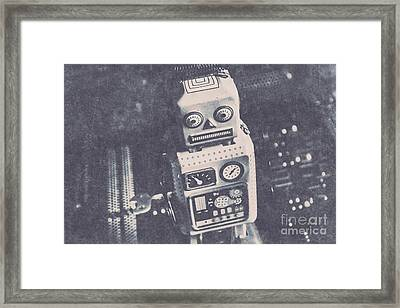 Vintage Robot Toy Framed Print by Jorgo Photography - Wall Art Gallery