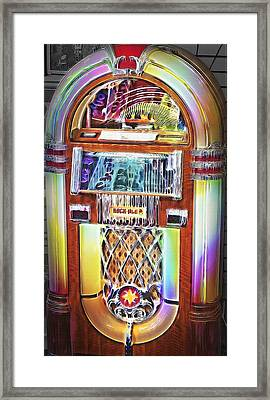 Vintage Rock-ola Jukebox Framed Print by Steve Ohlsen