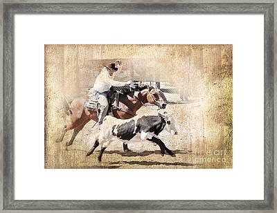 Vintage Rodeo Framed Print