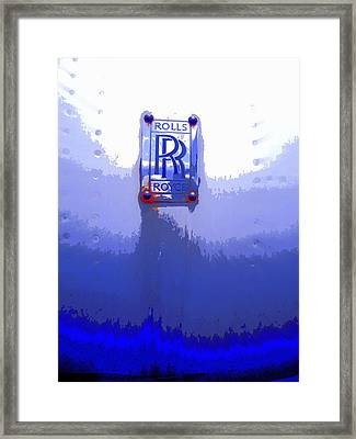 Vintage Rolls Royce Ready To Fly Framed Print