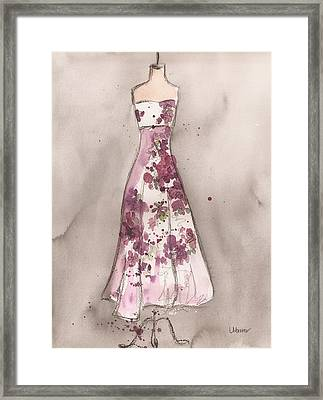 Vintage Romance Dress Framed Print