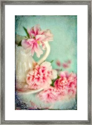 Vintage Romantic Peonies Framed Print