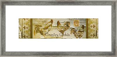 Vintage Rooster Country Cookin' Framed Print